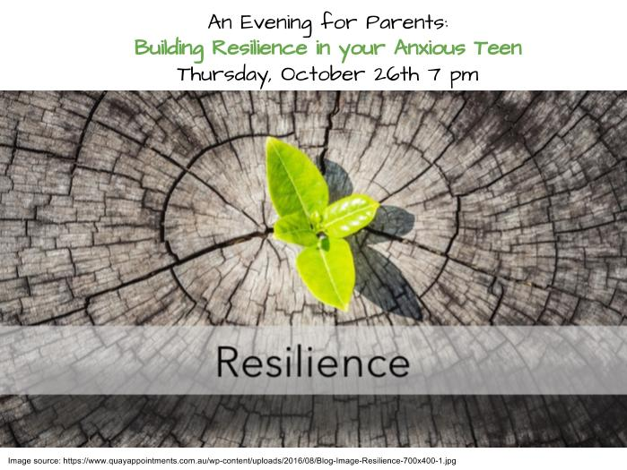 A Presentation for Parents on Building Resilience