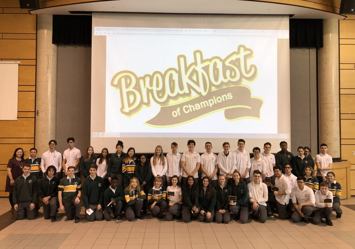 Breakfast of Champions: Celebrating Students and Catholic Character
