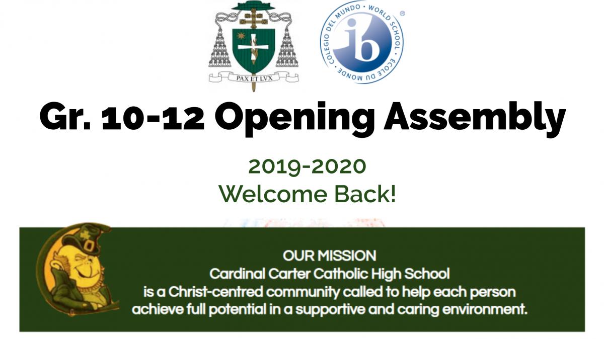 Opening Assemblies Information