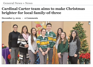 In the News: Cardinal Carter Making a Difference