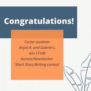 CFUW Writing Contest Winners!